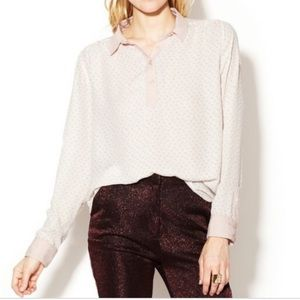 Free people novelty horse print Henley blouse S